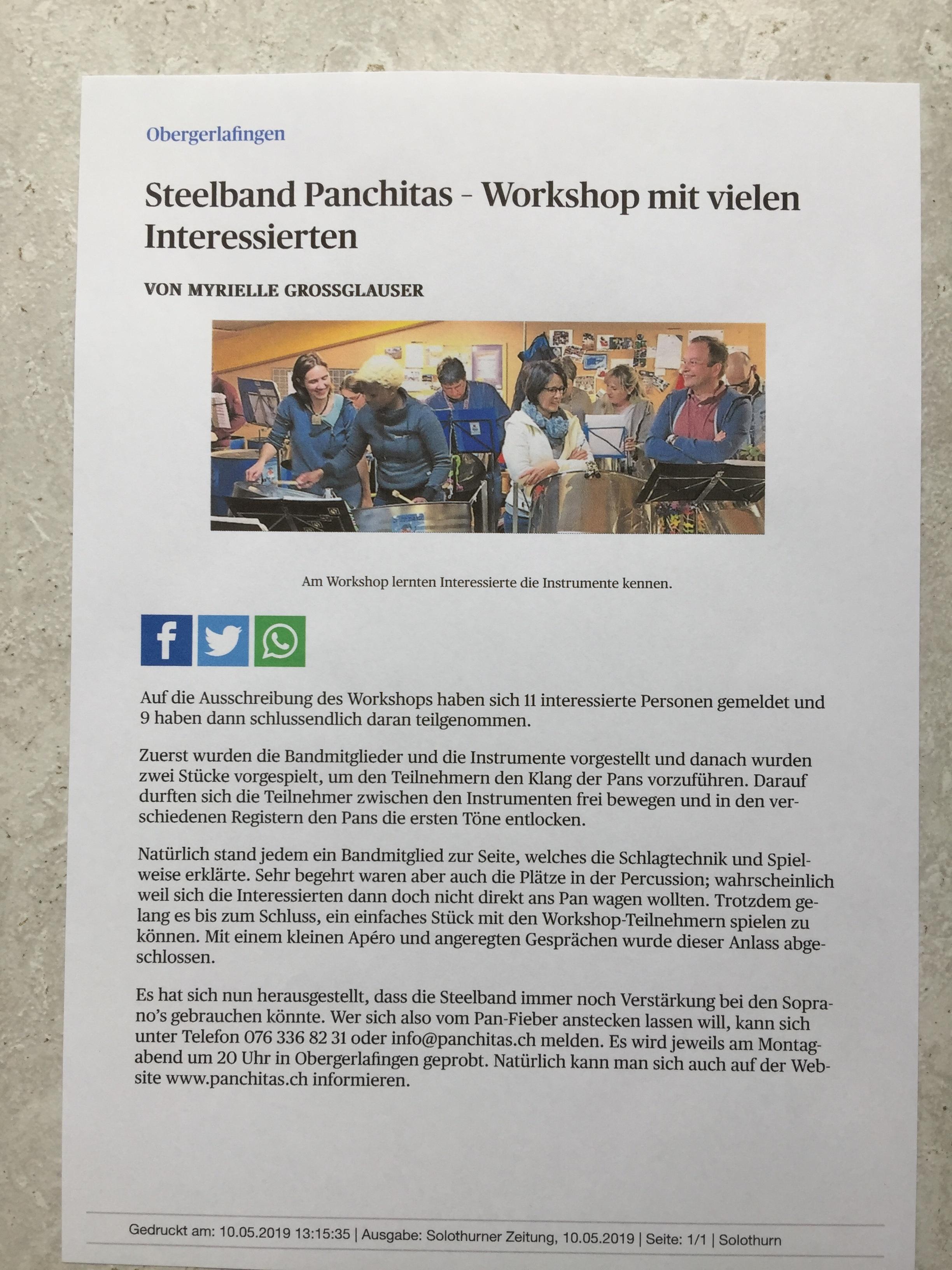 Pan-Workshop 25.03.2019